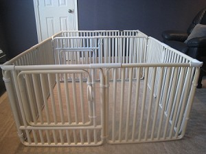 Economical whelping/play pen holds large litter of medium sized puppies through approximately 8 weeks of age. (Sheepskins ordered separately)