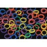 Package of 100 neon colored bands for tail docking