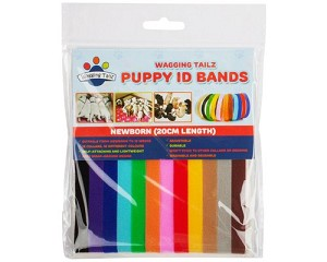 Package of 12 colored collars
